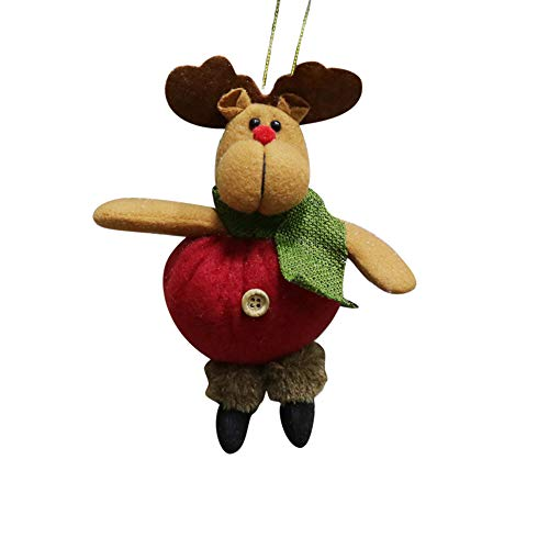 ängen Dekoration dekorative Kleine Kran Christmas Ornament Santa Schneemann Rentier Spielzeug Puppe hängen Party Dekoration ()