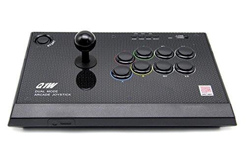 QANBA Q1W 2.4G Wireiess Joystick, Arcade Combat Stick pour PS3/PC, PC360, Android Plate-forme USB Gaming Controller D-entrée X-entrée Android Compatible