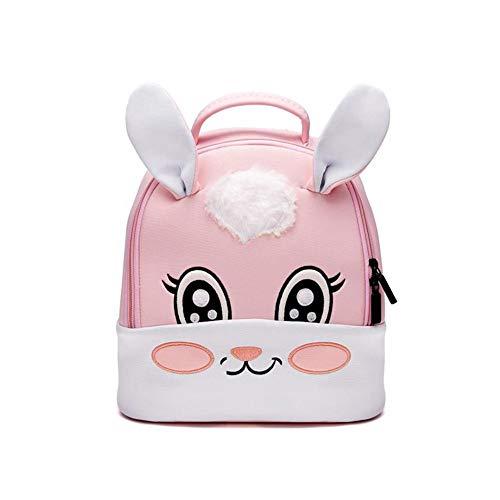 Rucksack für Kleinkinder, wasserdicht, niedliches Tier, Comic-Design, für Babys, als Schulranzen, für Mädchen, verspielte Lunchbox Hase (Für Niedlich Mädchen Rucksack)