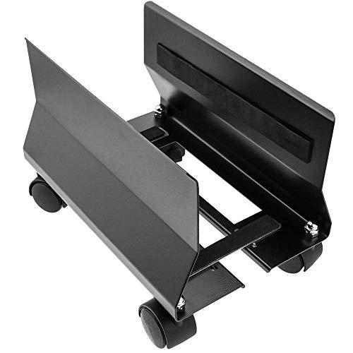 BeMatik - Ständer für PC Computer Metall mit schwarzen Rädern von 95 bis 230 mm