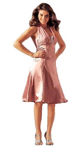 Laura Scott Evening Neckholder-Kleid Abendkleid rose Gr. 40