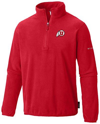 Columbia NCAA Herren 's Ridge Repeat Half Zip Fleece Top, Herren, Ridge Repeat Half Zip Fleece, Rot - Intense Red, X-Large Half Zip Lightweight Pullover