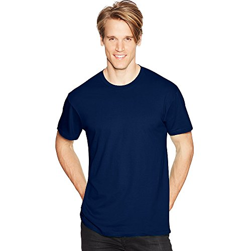 Hanes Mens Nano-T T-Shirt Navy