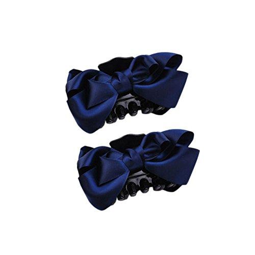 Ensemble de 2 fait main bowknot pince cheveux / accessoires cheveux, marine