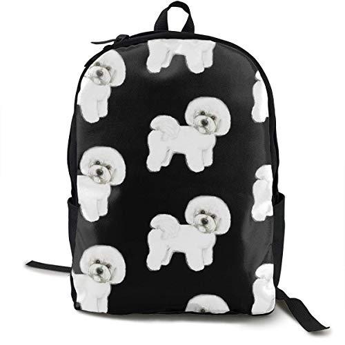 Bichon Frise Rucksäcke für Frauen Männer, Computer Laptop Rucksack, Casual Book Bag Travel Camping Daypack -