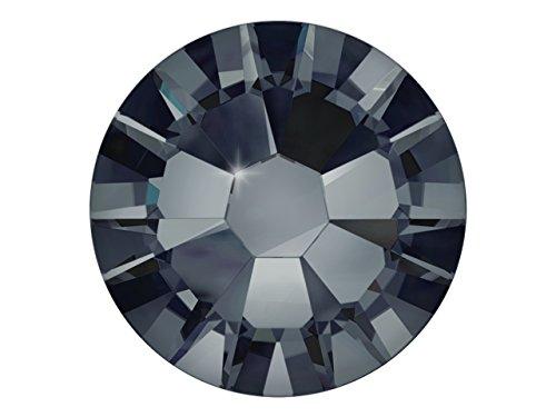 100 Nail Art Kristalle - SWAROVSKI Crystal - XILION Rose - Flat Back No Hotfix - Nagel-Design Strass Steine zum Aufkleben - graphite 1.75mm