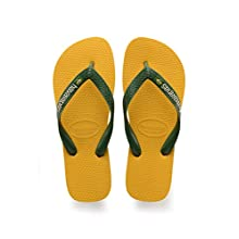 Havaianas Unisex Adults' Brasil Logo Flip Flops, Banana Yellow, 10/11 UK Child