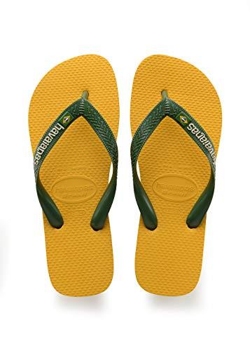 Havaianas Brasil Logo, Infradito Unisex - Adulto, Giallo (Banana Yellow), 43/44 EU (41/42 BR)