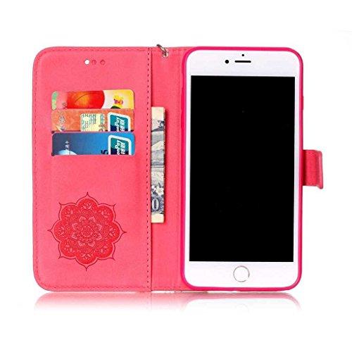 iPhone 6 6s Coque [avec Gratuit Protection D'écran en Verre Trempé], BoxTii® Etui Coque Housse Premium Case Cover pour Apple iPhone 6 / iPhone 6s (#8 Noir) #1 Rouge
