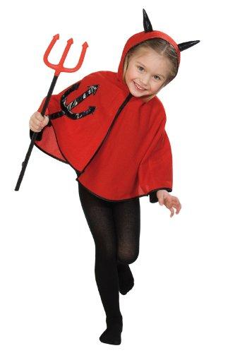 Teufelchen Cape Kostüm, Gröߟe 104 (Teufel Kostüm Kleinkind)