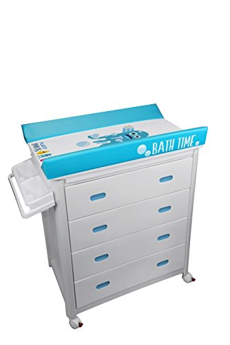 Plastimyr Bañera Cajones Blancos + Cambiador Bebes PLASTIMONS Azul