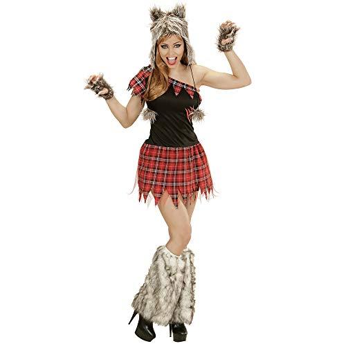 Widmann 02483 Erwachsenenkostüm Wolf Lady, Kleid, Kopfbedeckung, Fingerlose Handschuhe (Wolf Lady Kostüm)