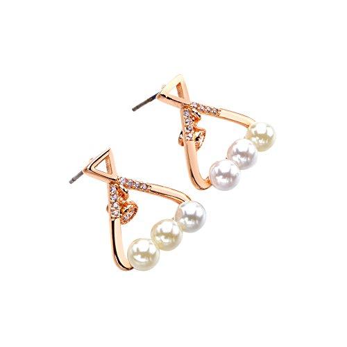 Lan Fan shell perle orecchini eleganti