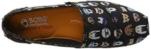 Bobs by Skechers Plush Pup Toile Mocassin Black Pup