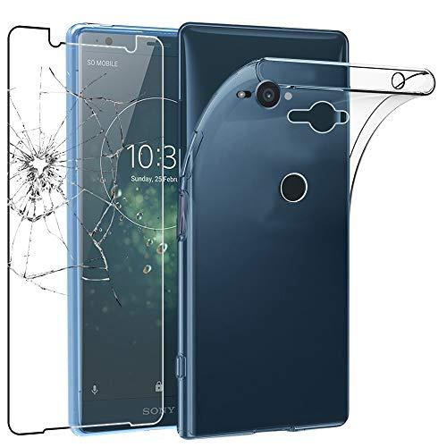 ebestStar - Sony Xperia XZ2 Compact Hülle Handyhülle [Ultra Dünn], Durchsichtige Klar Flex Silikon Schutzhülle, Transparent + Panzerglas Schutzfolie [Phone: 135 x 65 x 12.1mm, 5.0'']