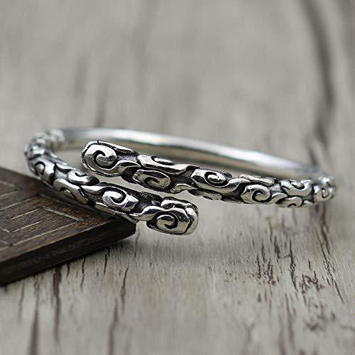 THTHT S 925 Silber Vintage Armband Für Frauen Männer Öffnen Gold Hoop Mode Einfaches Elegantes Persönlichkeit Kreative Schöne High-End Geschenke