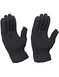 Devil Woolen Hand Gloves Stretchable Woollen Men Women Girls Boys Unisex Warm Winter Wool Biker Mittens FreeSize Black-B079D9SN3Q