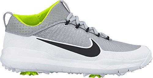 NIKE FI Premiere, Chaussures de Golf Homme, Argent-Plateado (Metallic Silver/Blk-White-VLT), 42 EU