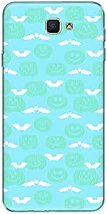 The Racoon Grip printed designer hard back mobile phone case cover for Samsung Galaxy On Nxt. (Cyan Evil)