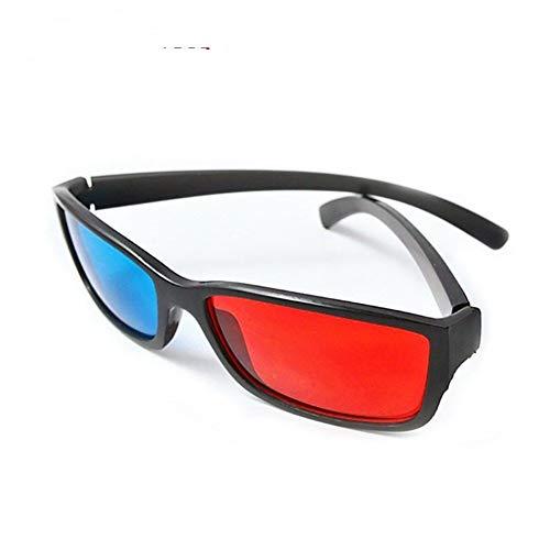 Universal Black Frame Rot Blau Cyan Anaglyph 3D Brille 0,2 mm Günstige 3D Brille für LED-Projektor Movie Game DVD (Color : Black)