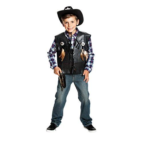 Kostümplanet® Cowboy-Weste Kinder Jungen Kostüm Wilder Westen Cowboy-kostüm Größe 140