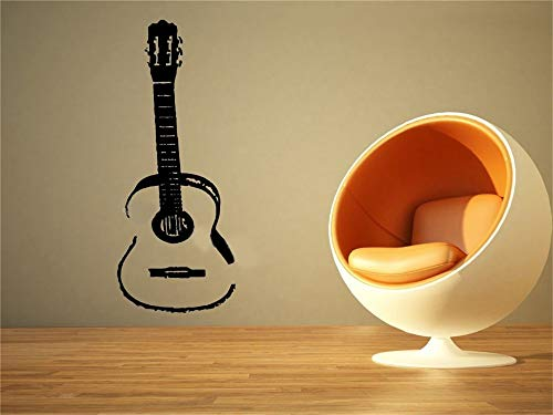 Wandtattoo Wohnzimmer Wandaufkleber Schlafzimmer Akustikgitarre Musik Gitarre Musikinstrument Sofa Background Music store bar wohnzimmer Aufkleber