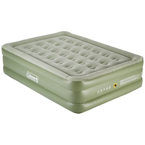 41i6agwcTkL. SS500  - Coleman Raised Double Airbed Air Bed - Green