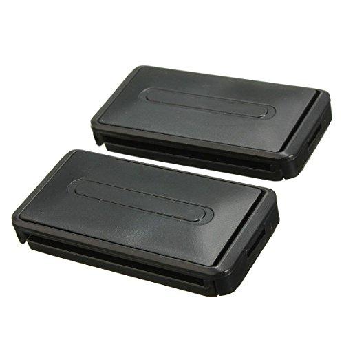 Clips de cinturon de seguridad - SODIAL(R)Clip de conector negro de cinturon ajustable de seguridad de coche que puede extenderse para mejorar la seguridad