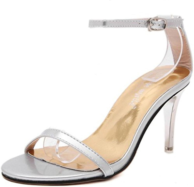 COOLCEPT Zapatos Hot Sale Mujer Moda Tacon de Aguja Heel Sandalias for Brides Boda Evening Vestir -