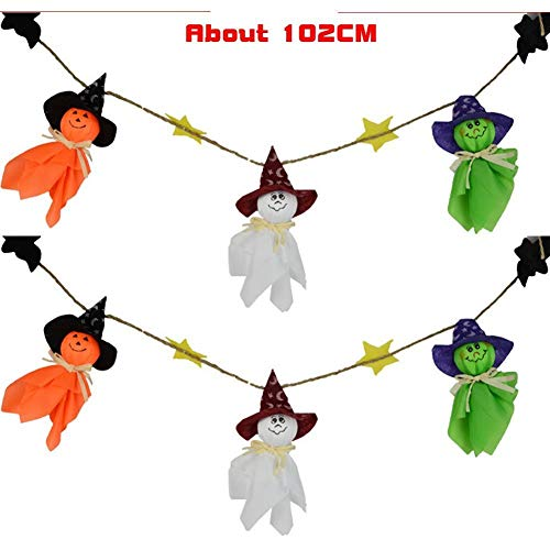 Vektenxi Premium-Qualität Cartoon Halloween Ghost String Flagge Kindergarten Bar Aktivitäten Festival Ornamente