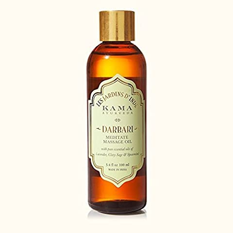 KAMA AYURVEDA DARBARI Aromatic massage oil MEDITATE Lavender, Clary Sage & Spearmint in jojoba oil - 100 ml