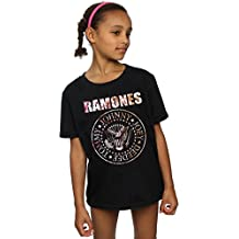 Ramones niñas Flower Rose Camiseta