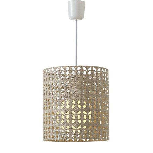 Dcasa - Lámpara de techo árabe beige de metal para decoración Arabia