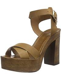 Vero Moda VMBEA Leather Sandal - Sandalias de Punta Descubierta Mujer