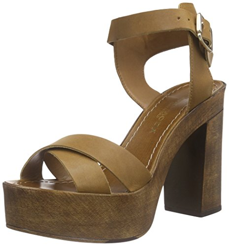Vero Moda Vmbea Leather Sandal, Sandales Plateau femme