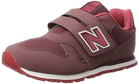 New Balance 373v1, Baskets Mixte Enfant, Rose (Dark Pink/Red), 33 EU