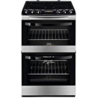 Zanussi ZCV46200XA 55cm Double Oven Electric Cooker With Ceramic Hob - Stainless Steel