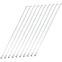 Fahrrad Speichen - TOOGOO(R) 10 Stueck Metall 26.5cm Lang Fahrrad Speichen Silber