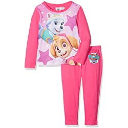 Paw Patrol Girl's Paw Patrol Everest And Skye Character Long Sleeve Pyjama Set, Pink, 5-6 Years (Manufacturer Size: 5-6)