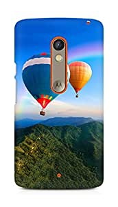 Amez designer printed 3d premium high quality back case cover for Motorola Moto X Play (Hot Air Balloons)