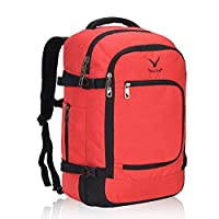 Veevan Backpack Cabin Flight Approved 40 Liter Carry On Bag Travel Business Rucksack Hand Luggage 50 x 35 x 20 CM(Jacinth)
