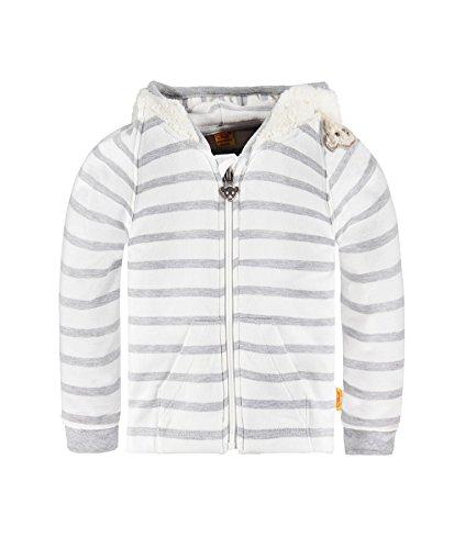 Steiff Collection Jungen Sweatshirt Sweatjacke1/1 Arm, Gr. 68, Grau (Softgrey melange 8200)