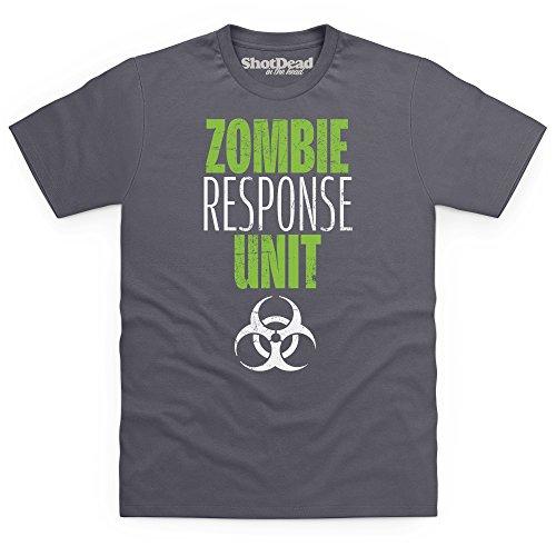 Zombie Response Unit T-Shirt, Herren Anthrazit