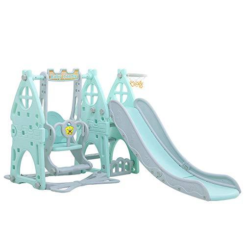 Dtcat Kindergartenspielplatz,Kinderspielzeug,Rutschbahnen für Kinder,multifunktionale Babyrutschen in Grün,Fitnessstudio für Kleinkinder