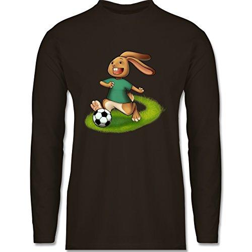 Shirtracer Fußball - Fußball Hase - Herren Langarmshirt Braun
