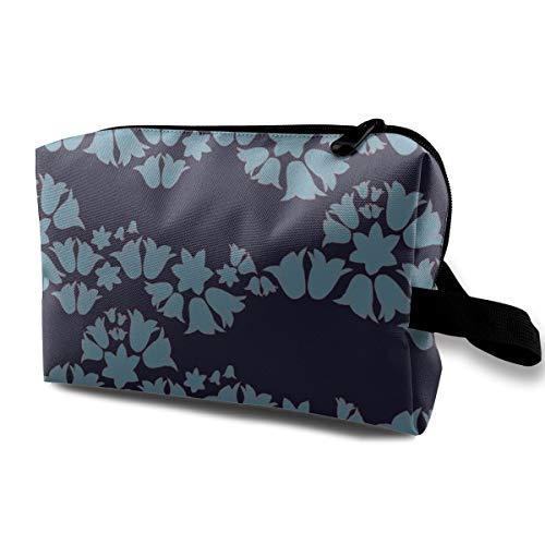 Bell Wave Blue_3700 Tragbare Reise Make-up Kosmetiktaschen Organizer Multifunktions Tasche für Frauen