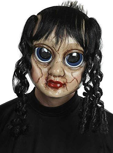 Herren Puppe mit Haaren, Halloween-Kostüm, Maske ()
