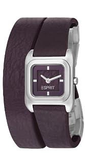 Esprit ES105702004 - Reloj analógico de cuarzo para mujer con correa de piel, color morado de Esprit