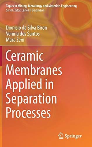 Ceramic Membranes Applied in Separation Processes (Topics in Mining, Metallurgy and Materials Engineering) Keramik-santa