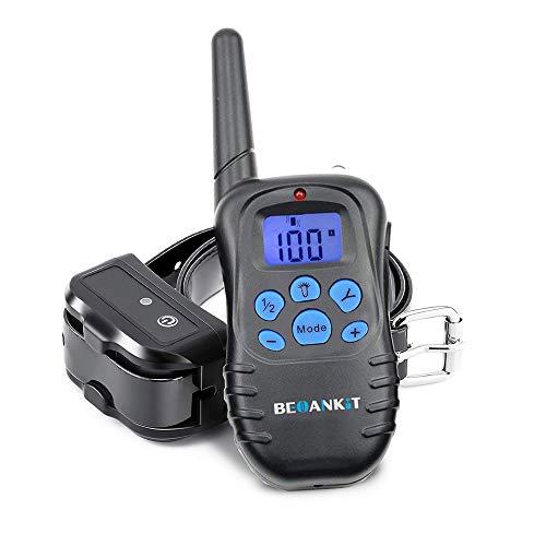 Beoankit Collar De Adiestramiento para Perros-Rango Remoto de 300 metros-Recargable-IPX67-Pitido De Alerta Y Modo De Vibración